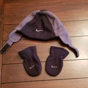 Nike hat and mittens (infant)